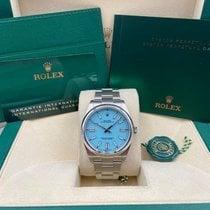 Rolex Oyster Perpetual Acero 41mm Azul Sin cifras