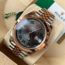 Rolex Datejust Acero y oro 41mm Gris Sin cifras
