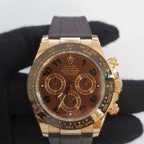 Rolex Daytona Pозовое золото 40mm Коричневый