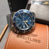 Breitling Superocean Héritage II Chronographe gebraucht 46mm Blau Chronograph Datum Stahl