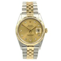 Rolex Silver Automatic pre-owned Datejust