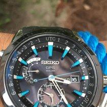 Seiko Astron GPS Solar Chronograph Сталь 47mm Черный Без цифр