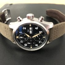 IWC Pilot Spitfire Chronograph Steel 41mm Black Arabic numerals United States of America, Massachusetts, Seekonk