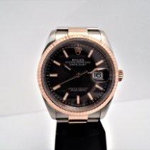 Rolex Ouro rosa Automático Cinzento Sem números 36mm usado Datejust