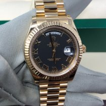 Rolex Day-Date II Yellow gold 41mm Black Roman numerals United States of America, New York, New York