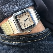 Cartier Santos Galbée Steel 29mm Champagne Roman numerals United States of America, Florida, Pembroke Pines