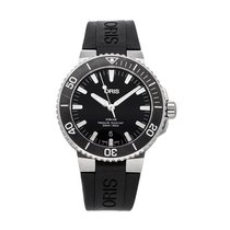 Oris Steel Automatic Black No numerals 43.5mm pre-owned Aquis Date