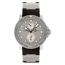 Ulysse Nardin Steel Automatic Silver No numerals 43mm pre-owned Maxi Marine Diver