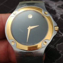 Movado Sports Edition Goud/Staal 38mm Zwart