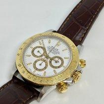Rolex Daytona Gold/Stahl 40mm Weiß Keine Ziffern Schweiz, lugano