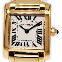 Cartier Tank Française Yellow gold 20mm Silver Roman numerals United States of America, Florida, Boca Raton