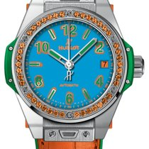 Hublot Big Bang Pop Art Aço 39mm Azul Árabes