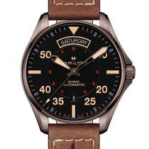 Hamilton Khaki Pilot Day Date Steel 42mm Black Arabic numerals