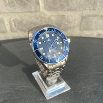 Omega Seamaster Staal 41mm Blauw Geen cijfers