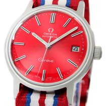Omega Genève Steel 34mm Red No numerals United States of America, Utah, Draper