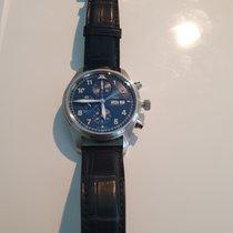 IWC Pilot Chronograph Acero 42mm Azul Arábigos España, MADRID