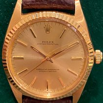 Rolex Oyster Perpetual Or jaune 36mm Argent