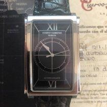 Cuervo y Sobrinos Prominente Steel 30mm Black Roman numerals