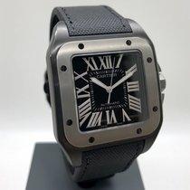 Cartier Santos 100 Титан 38mm Черный Римские