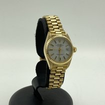 Rolex Yellow gold Automatic White No numerals 26mm pre-owned Lady-Datejust