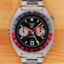 Heuer Steel Automatic Black No numerals 42mm pre-owned