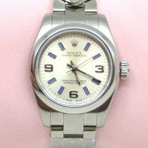 Rolex Oyster Perpetual Stahl 26mm Silber Arabisch