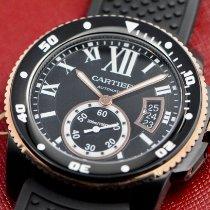 Cartier Calibre de Cartier Diver Gold/Stahl 42mm Schwarz Römisch