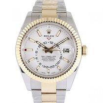Rolex Sky-Dweller Gold/Steel 42mm White No numerals UAE, Dubai