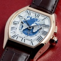 Cartier new Automatic World time watch 44mm Rose gold