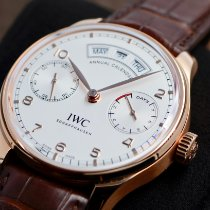 IWC Red gold Automatic Silver Arabic numerals 44.2mm new Portuguese Annual Calendar