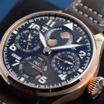 IWC Big Pilot Rose gold 46mm Brown Arabic numerals United States of America, Texas, Houston
