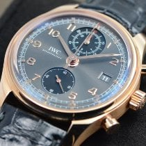 IWC Rose gold Automatic Grey Arabic numerals 42mm new Portuguese Chronograph