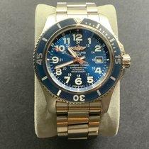 Breitling Superocean II 44 Steel 44mm Blue Arabic numerals United States of America, New York, halfmoon