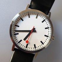 Mondaine Classic Steel 40mm White No numerals