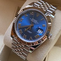 Rolex Datejust Gold/Stahl 41mm Blau Römisch