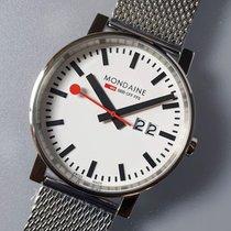 Mondaine Evo Steel 40mm White No numerals