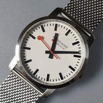 Mondaine Simply Elegant Steel 41mm White No numerals
