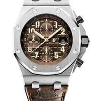 Audemars Piguet Royal Oak Offshore Chronograph Acciaio 42mm Marrone Arabi