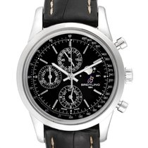 Breitling Transocean Chronograph 1461 Acero 43mm Negro