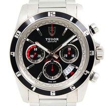 Tudor Grantour Chrono occasion 42mm Noir Chronographe Date Acier
