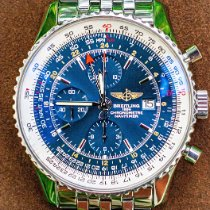 Breitling Navitimer World Steel 46mm Blue No numerals United States of America, Texas, Plano