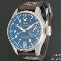 IWC Big Pilot tweedehands 46.2mm Zwart Datum Runderleer