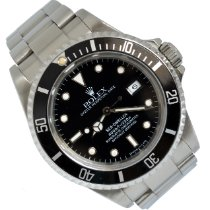 Rolex Sea-Dweller 4000 pre-owned 40 MM escluso corona di caricamm Black Date Steel