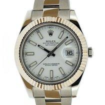 Rolex Datejust II Acier 41mm Blanc Sans chiffres