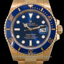 Rolex Or jaune Remontage automatique Bleu 40mm occasion Submariner Date