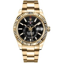 Rolex Sky-Dweller Or jaune 42mm Noir Arabes