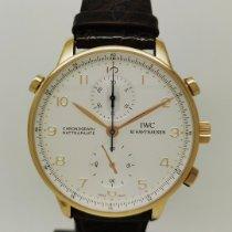 IWC Portuguese Chronograph Or jaune 41mm Argent Arabes