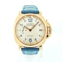 Panerai Rose gold Automatic 38mm pre-owned Luminor Due