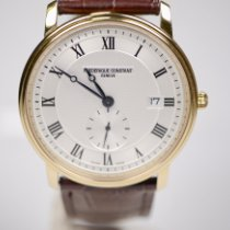 Frederique Constant Slimline Gents pre-owned 39mm Silver Date Crocodile skin