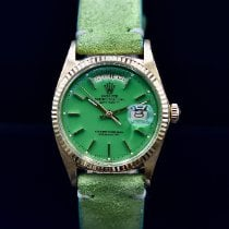 Rolex Day-Date 36 Or jaune 36mm Vert Sans chiffres France, Paris